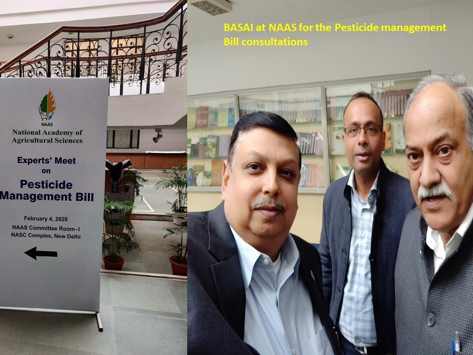 BASAI at NAAS for the Pesticide management Bill consultations Feb. 4, 2020